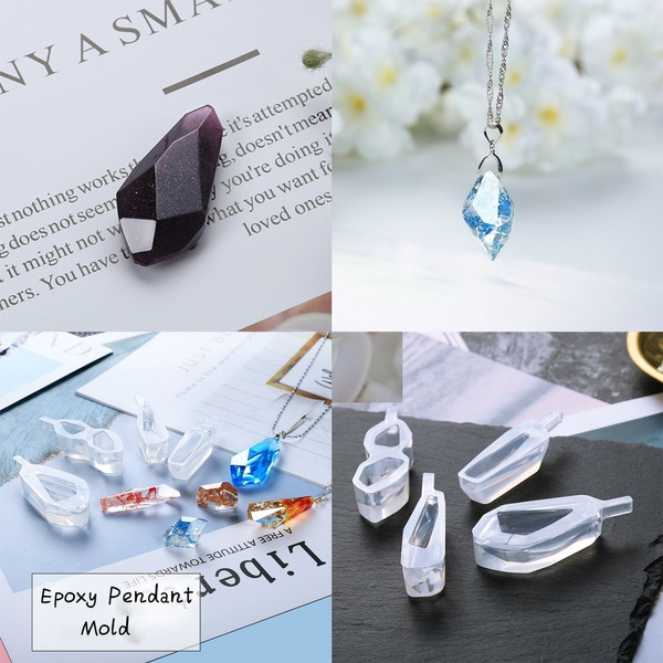 Necklace Pendant Stone Silicone Mold Epoxy Mold Resin Mold Jewelry Making  Supplies DIY Crafting Tools(Molds Only)