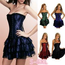 Goth, bustier dress, Vintage Dresses, bubble
