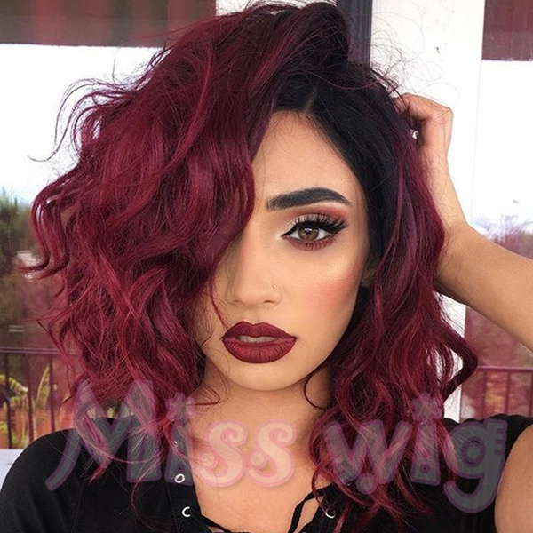 Red Short Curly Wig Natural Short Curly Hair