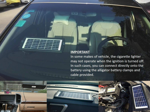 Wish Car Battery Trickle Charger Portable Solar Panel Battery