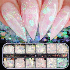 nail decoration, Heart, nailglitter, Beauty
