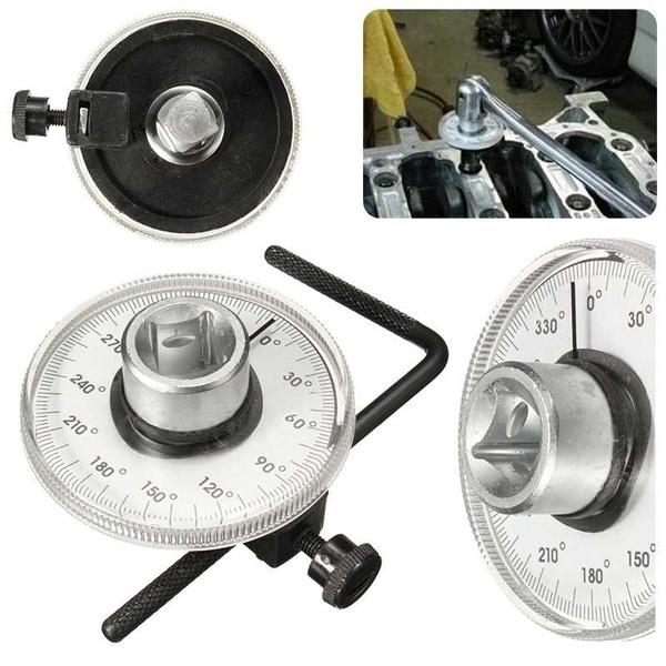 "1//2/""Adjustable Drive Torque Angle Gauge Car Garage Tool Set For Hand Tool Wrench"