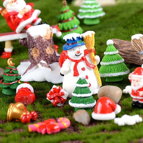 Christmas Dollhouse Decorations.Miniature Resin Christmas Series Micro Garden Plant Bonsai Dollhouse Decorations Acm