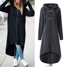 hooded, diphem, Long Sleeve, Coat