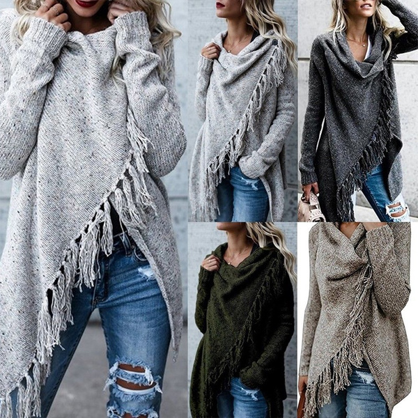knitwear, Tassels, Plus Size, sweaters for women