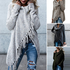 knitwear, Tassels, Plus Size, sweaters for women