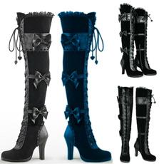 Knee High Boots, fashion women, Cosplay, tallboot