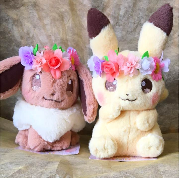 Pokemon Fete Spring Eevee & Pikachu Plush Doll Toy Christmas Gifts 7 Inch by Wish