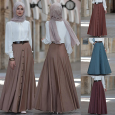 long skirt, Plus Size, Waist, women dresses