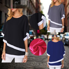 Summer, Fashion, chiffon, womencasualshirt