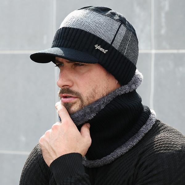 e4249d9b 2018 Winter Hats For Men Skullies Beanie Hat Winter Cap Men Women Wool  Scarf Caps Set Balaclava Mask Gorras Bonnet Knitted Hat