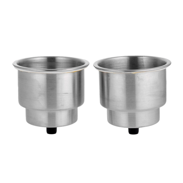 2Pcs Stainless Steel Recessed Cup Drink Holder for Marine Boat Camper Truck Red