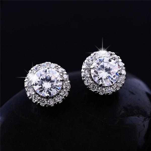 Gifts For Her, White Gold, DIAMOND, White Gold Earrings