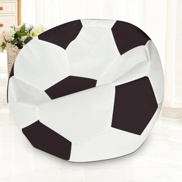 Astounding Wonderful Turbo Soccer Ball Style Bean Bag Chair Sofa Couch Without Fillers Ocoug Best Dining Table And Chair Ideas Images Ocougorg