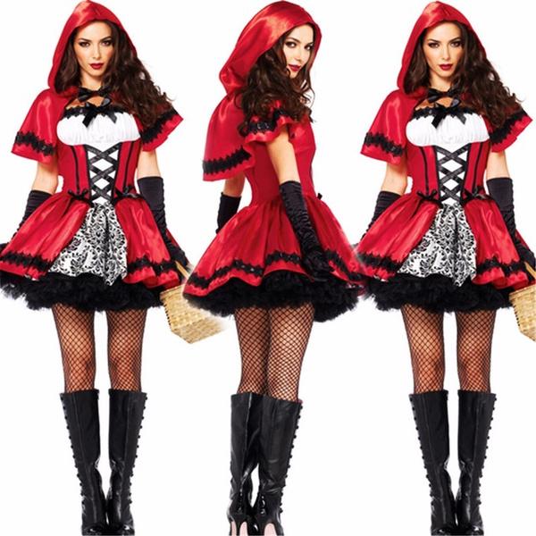 Sexy Disfraces Halloween Cardinal Little Red Riding Hood Costume