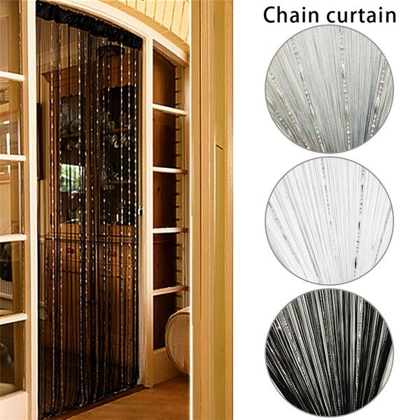 New Practical Beautiful Teardrop Beaded String Door Curtain Fly Screen  Divider Room Window Decor DIY Blind Tassel Drape EAS