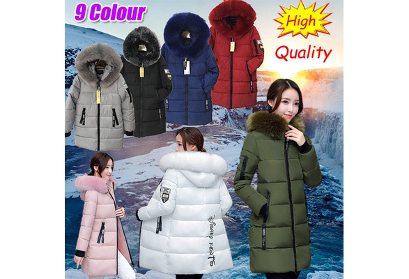 2018 Women's Winter Hooded Down Cotton Cotton-padded Jacket Warm Jacket Winter Women's Jacket