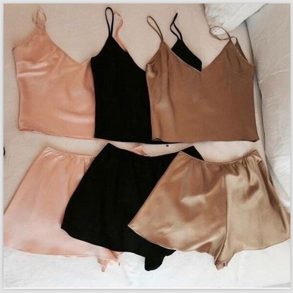 nightwear, Shorts, crop top, camisole