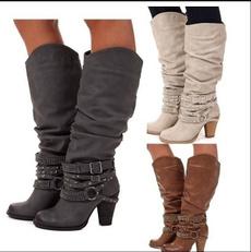Knee High, Fashion, strap, Women's Fashion