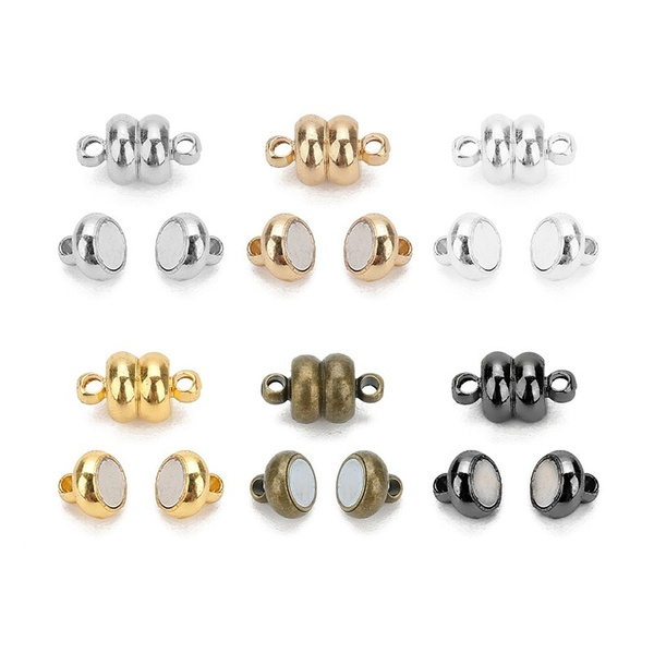 10pcs Silver Magnetic Magnet Clasp Connectors Bracelet DIY Jewelry Making