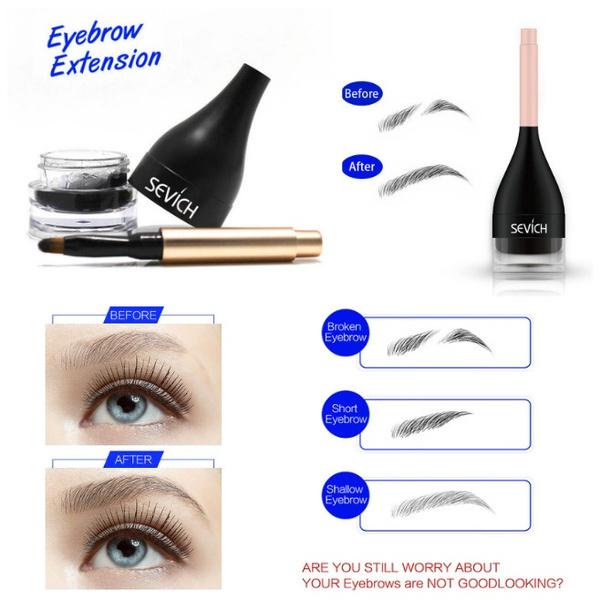 Wish Waterproof Eyebrow Extension Fiber Gel With Brush 3d Eyebrow