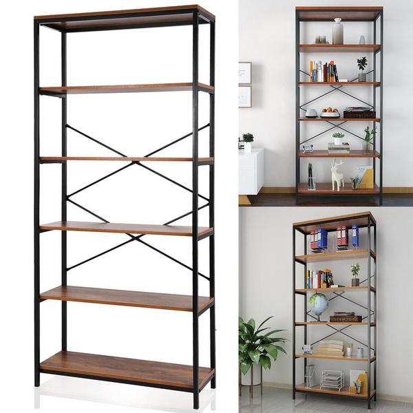 Bookshelf 3//4 Tier Bookcase Display Storage Shelving Shelf Organizer Book Home
