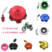 CNC Aluminum Gas Fuel Tank Cap with Breather Valve For 50cc 70cc 90cc 110cc 125cc 140cc 150cc 160cc Pit Dirt Bike Motorized Bicycle Red