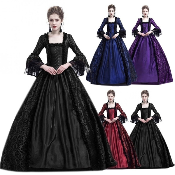 18th Century Victorian Period Women Medieval Dress Vintage Marie Antoinette  Dress Christmas Ball Gown Reenactment Theatre Costumes