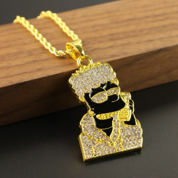 golden, hip hop jewelry, Chain, Mens Accessories