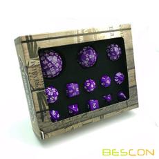 100sidesdiceset, 100sidesdicesetpurple, purpled100set, purple13pcsdiceset