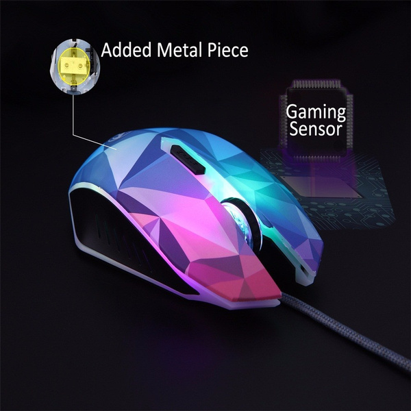 New Wired Mouse Dazzle Color Diamond Edition Optical Computer Pro Gamer Mouse