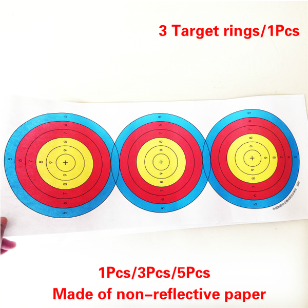 New 1pcs/3pcs/5pcs Archery Targets, Paper Targets, Target Exercises,  Shooting Paper Targets, Archery Target Shooting, Target Practice Paper,used  for