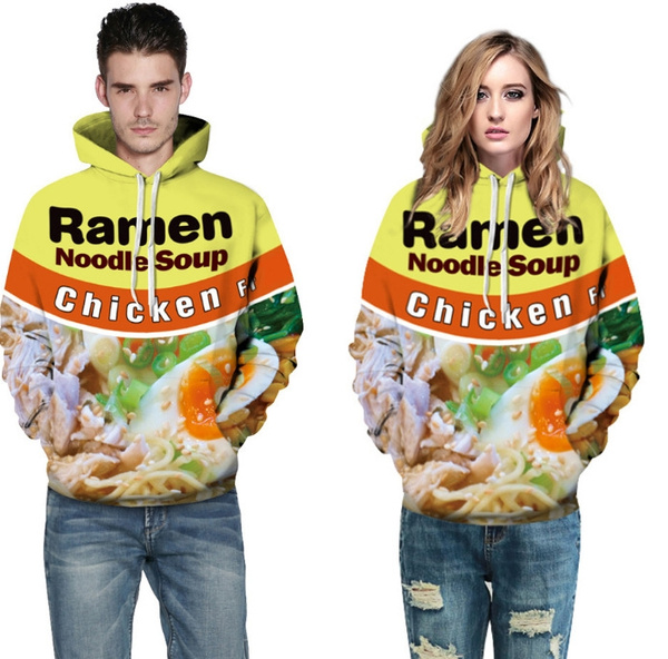 Wish 3d Sweatshirt Men Women Ramen Noodle Soup Print Sweatshirt