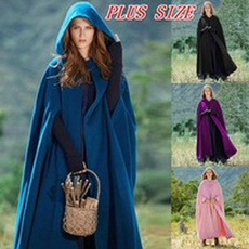 hooded, Coat, Medieval, Long Coat