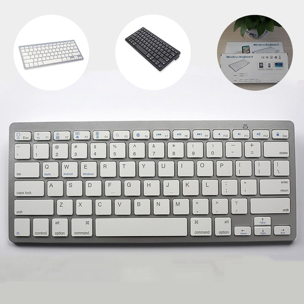 Wireless Bluetooth Keyboard, Tablet, Mobile Phone Universal Ultra-thin Mute  Keyboard