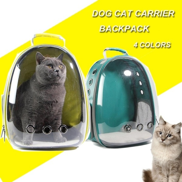 Clear Cat-carrying Backpack Outdoor Waterproof Breathable Space Capsule  Puppy Dog Carrier Backpack
