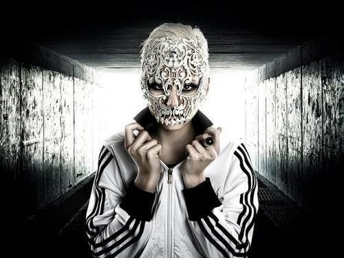Laser, skull, Masquerade, Halloween