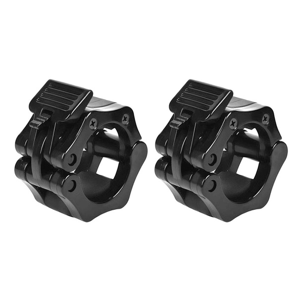 1 Pair Lock Jaw Collars Olympic Barbells Buckle Muscle Clamp Bar Lockjaw 50mm
