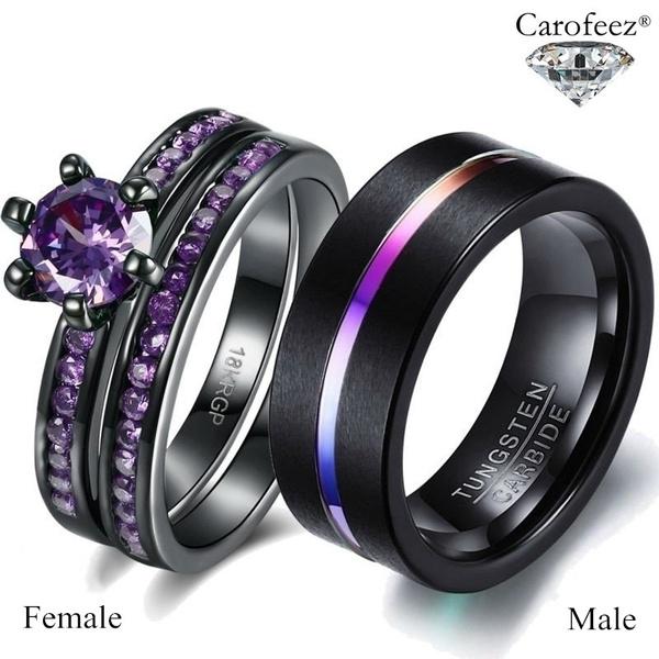 Couple Rings, mensfashionring, tungstenring, wedding ring