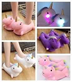 cute, led, unicornslipper, Indoor