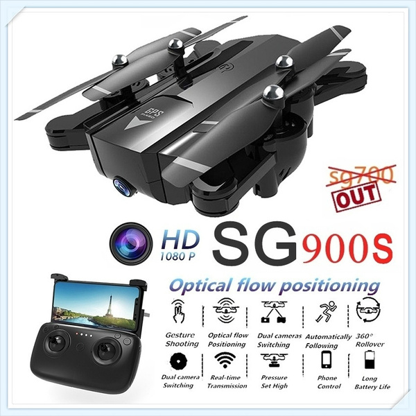 Newest SG900-S Rc Drone Folding GPS Smart Follow + Full 1080P HD FPV  Wide-Angle Camera + 360° Rotation + V-Sign + Gesture Video + Real-Time
