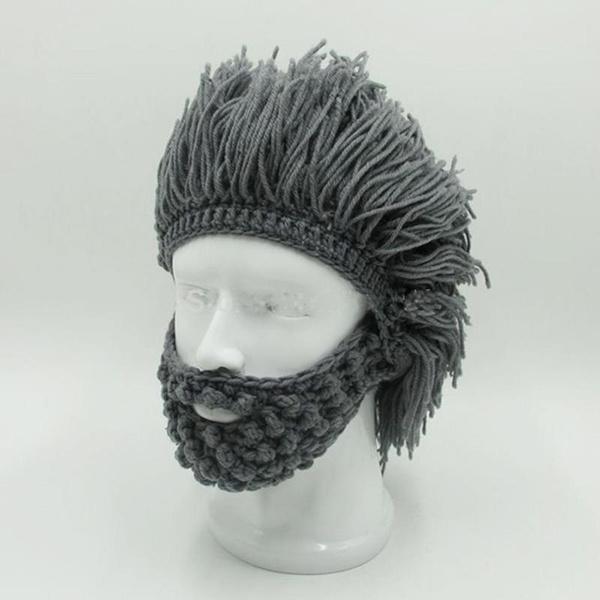31f536110ce New Fashion Wig Beard Hats Hobo Mad Scientist Rasta Caveman Handmade ...