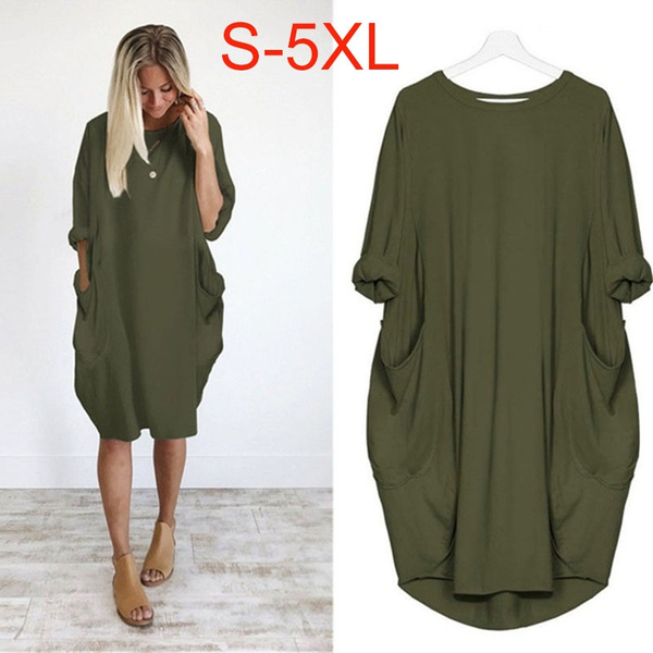 Plus Size, Winter, Long Sleeve, baggydres