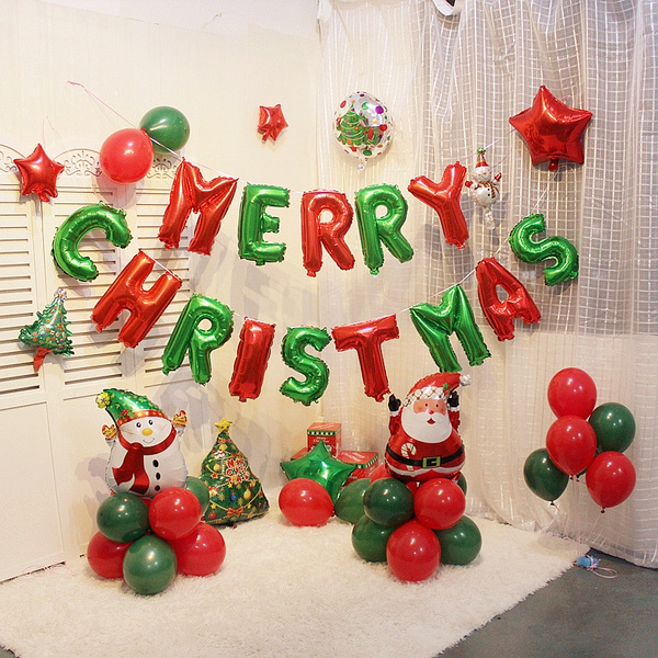 foilballoonsletter, christmasballoon, aluminumfoilballoon, merrychristmasdecoration