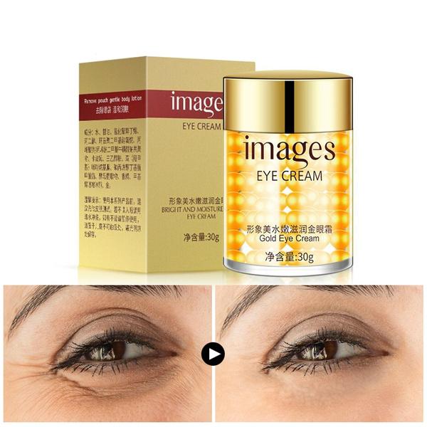 Gold Eye Cream Anti-Puffiness Remove Wrinkles Eye bag Remove Dark Circle  Moisturizing Skin Care Ageless Instantly