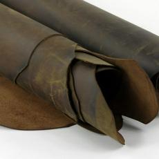 brown, Genuine, cow, oiltannedleather