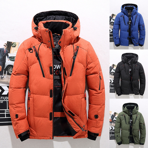 bas prix 00ff8 6e355 NEW Men's 90% White Duck Thick Down Jackets Winter Warmed Detachable Hooded  Snow Parkas Male Brand Clothing Outerwear