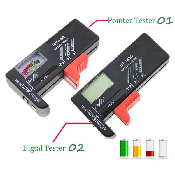Universal Battery Checker Battery Tester BT-168 Digital Battery Capacity Volt Tester for 1.5V AA AAA 9V Battery