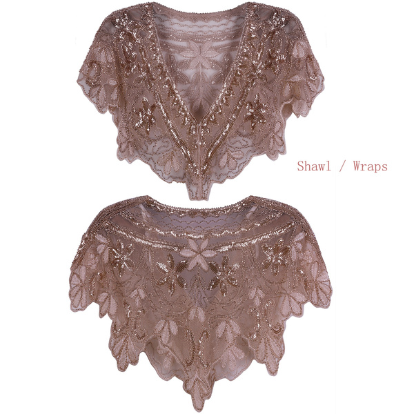a117c1d55c Rose Gold Shawl Wraps Womens Party Accessories Vintage Shawl Scarves ...