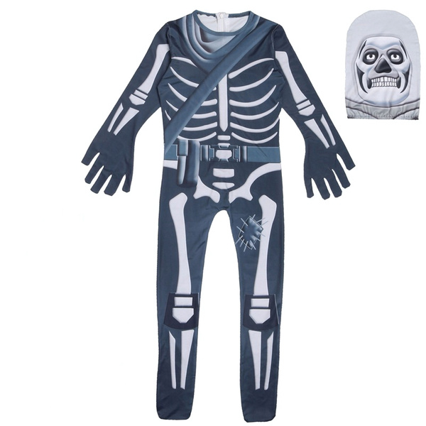 Kids Ninjago Skull Trooper Skin Decoration Boys Character Clown Cosplay  Clothes Halloween Costumes Ninja Party Funny Clothing